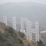 View of Hollywood sign from behind