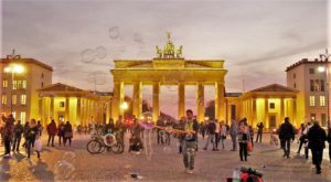 Brandenburgh Gate Bubbles, Berlin, Germany