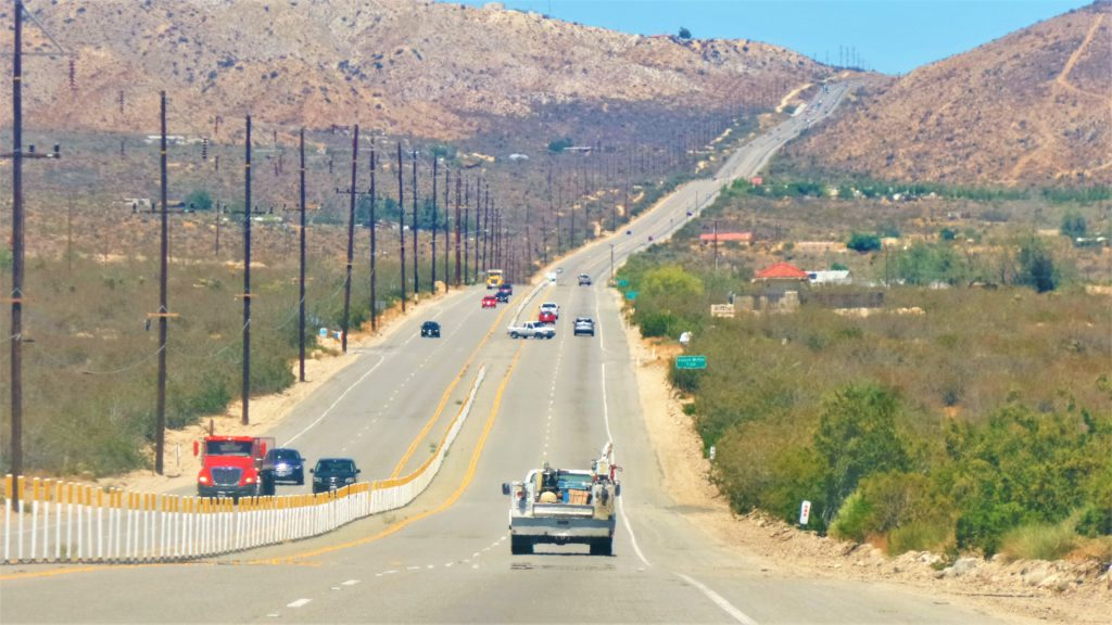Twenty Nine Palms road, California