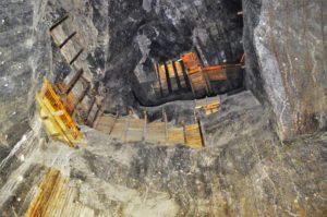 Cave walls, Wieliczka Salt Mine, Krakow, Poland