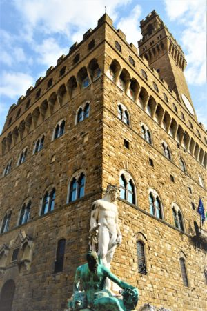 Palazzo Vecchio statues, Florence, Italy