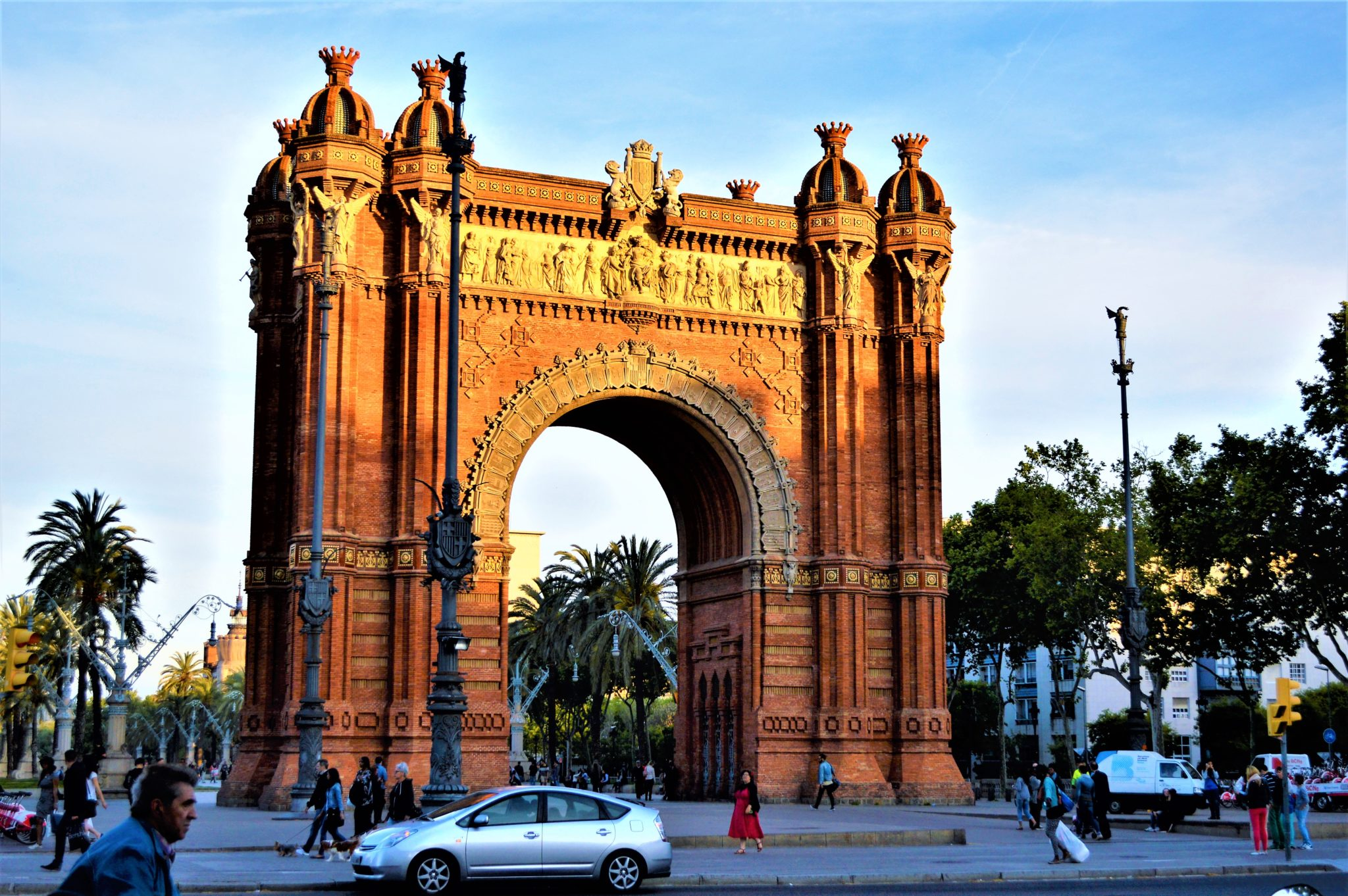 Arc de Triomf side view, Barcelona, Spain