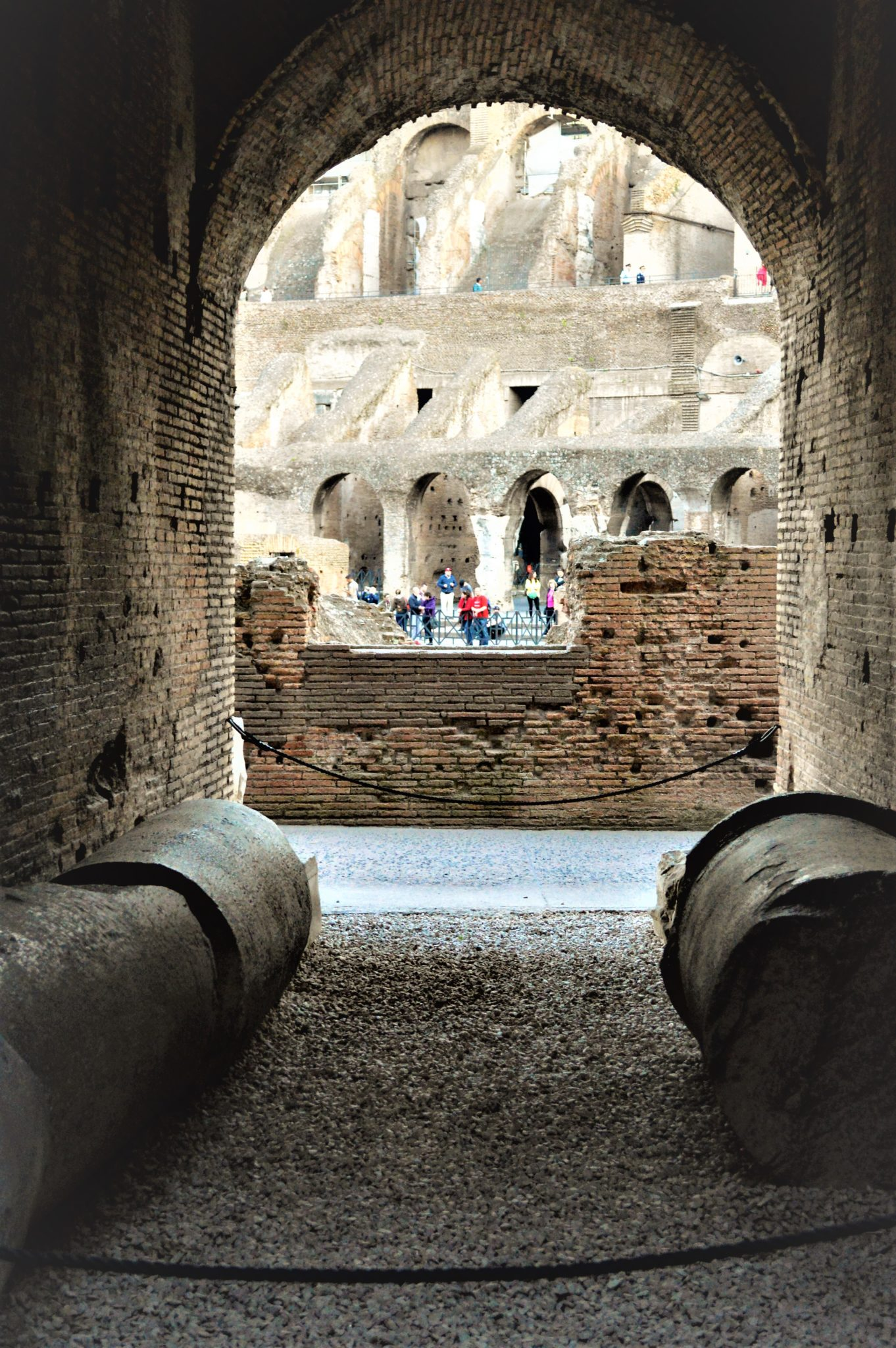 Archway in the Roman Colosseum, Rome, Italy