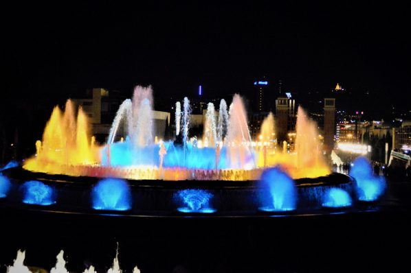 Dancing fountains, Barcelona, Spain