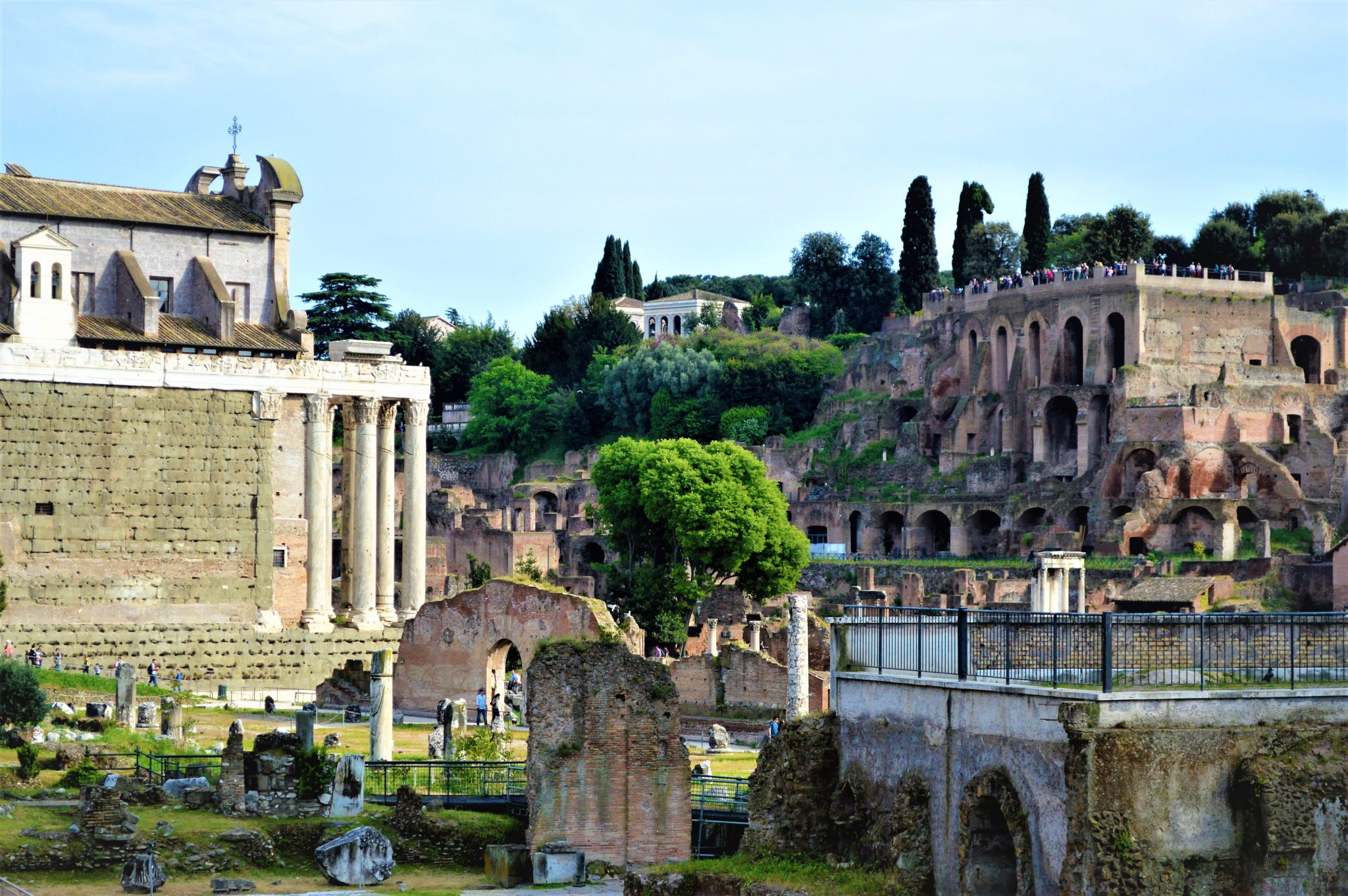 Difference between the Imperial Fora and Forum of Caesar and the Roman Forum, Rome, Italy