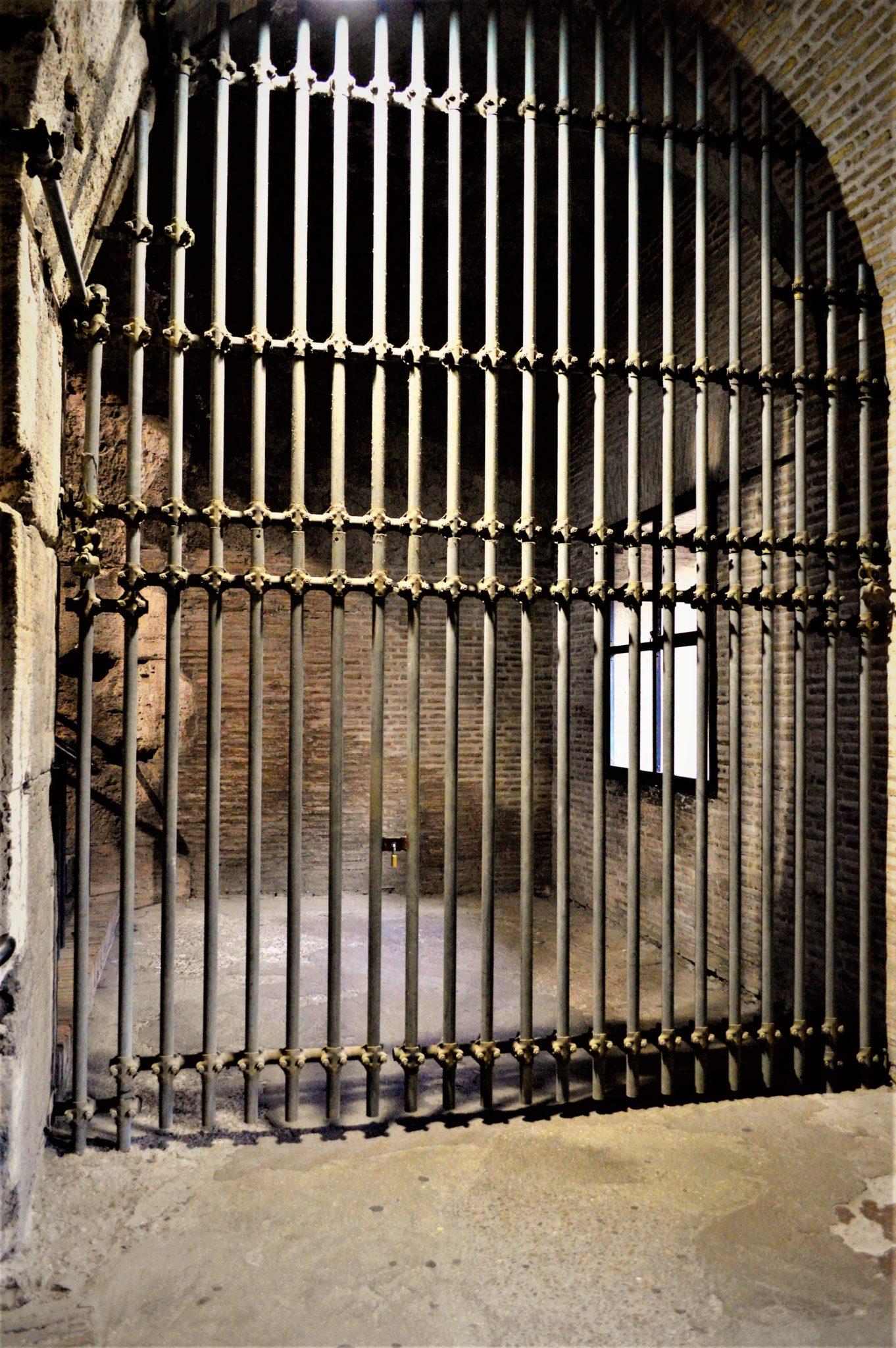 Gate inside the Roman Colosseum, Rome, Italy
