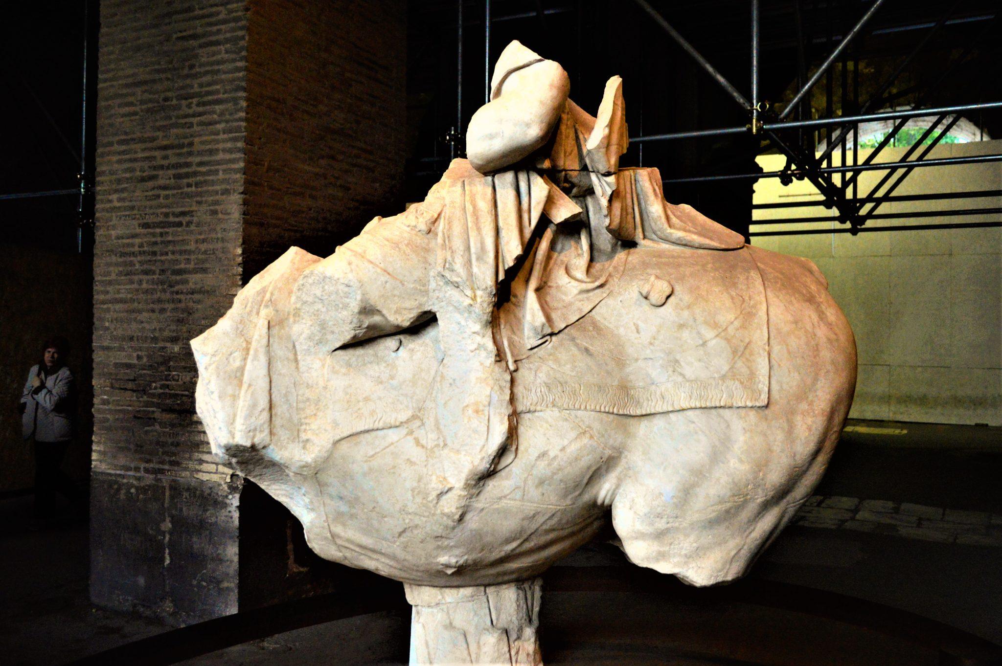 Horse statue, Roman Colosseum, Rome, Italy