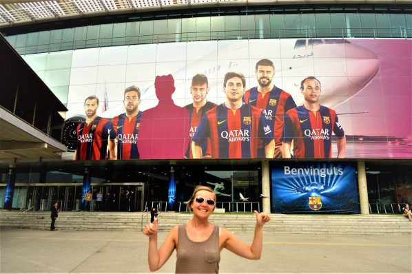 Nicola at Nou Camp, Barcelona, Spain