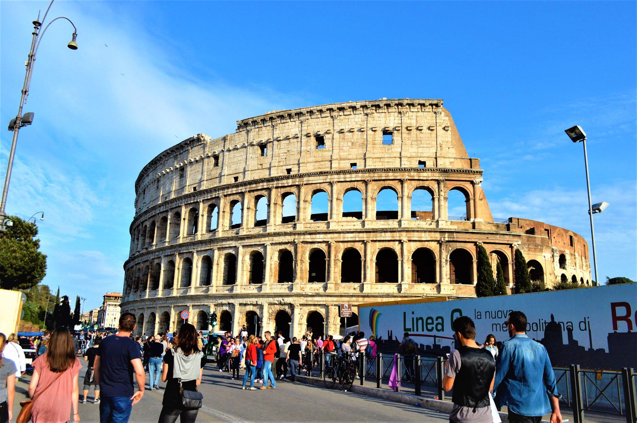 Outside the Roman Colosseum, Rome, Italy