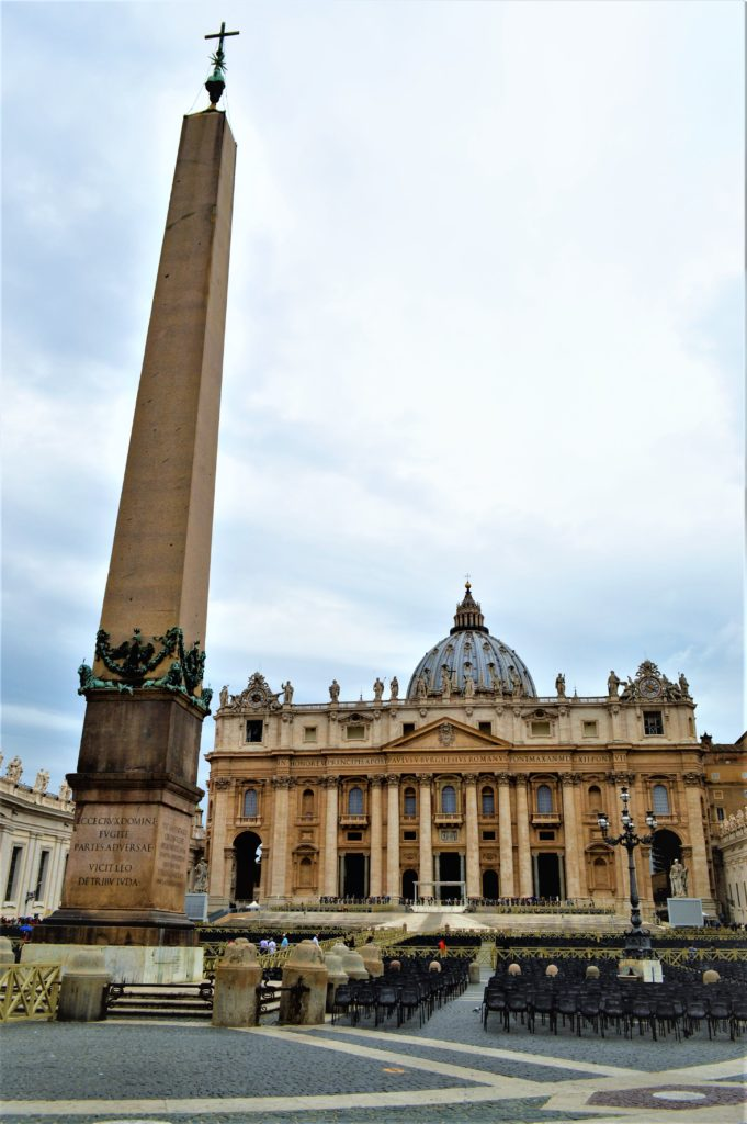The Vatican Obelisk In St Peter's Square, Rome, Italy