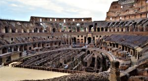 The arena, Roman Colosseum, Rome, Italy
