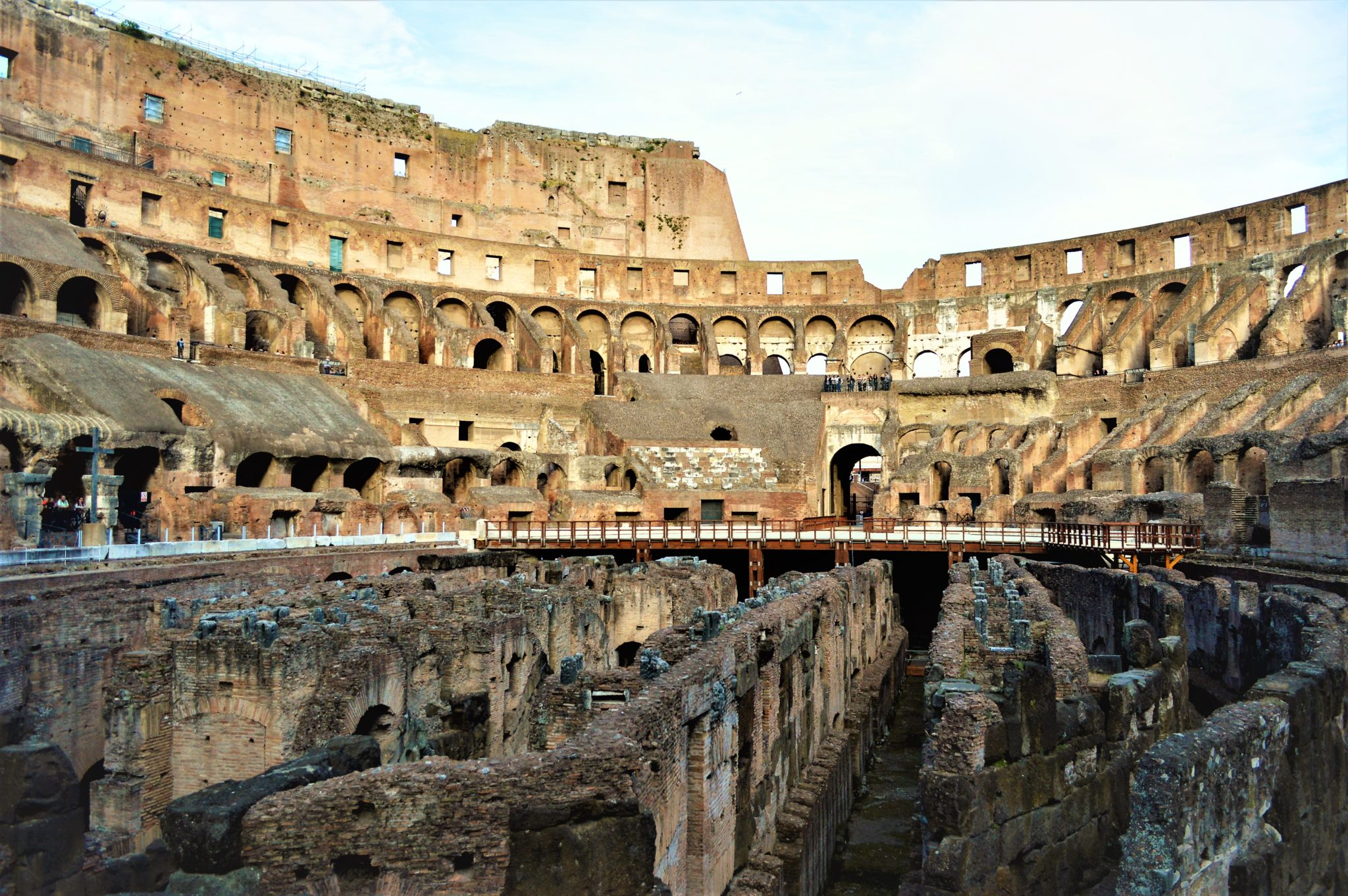 The grounds of the Roman Colosseum, Rome, Italy