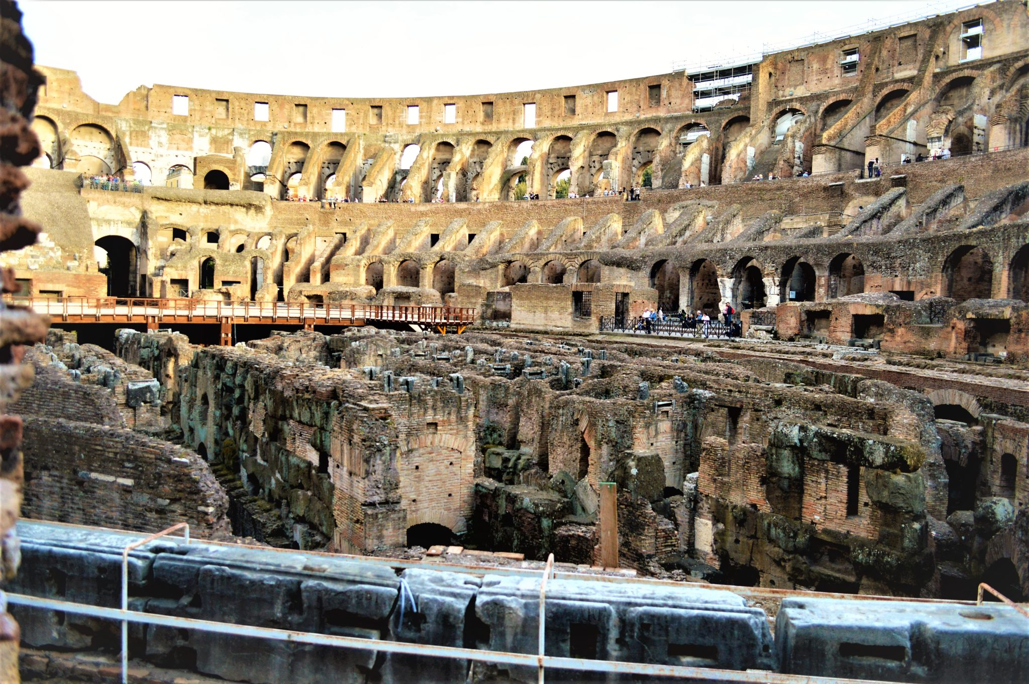 The show area of the Roman Colosseum, Rome, Italy