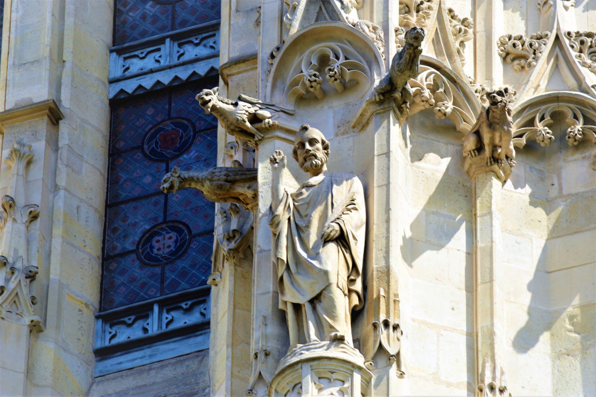 Art work on building in Paris, France