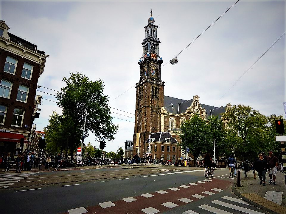 Big church in Amsterdam, Holland