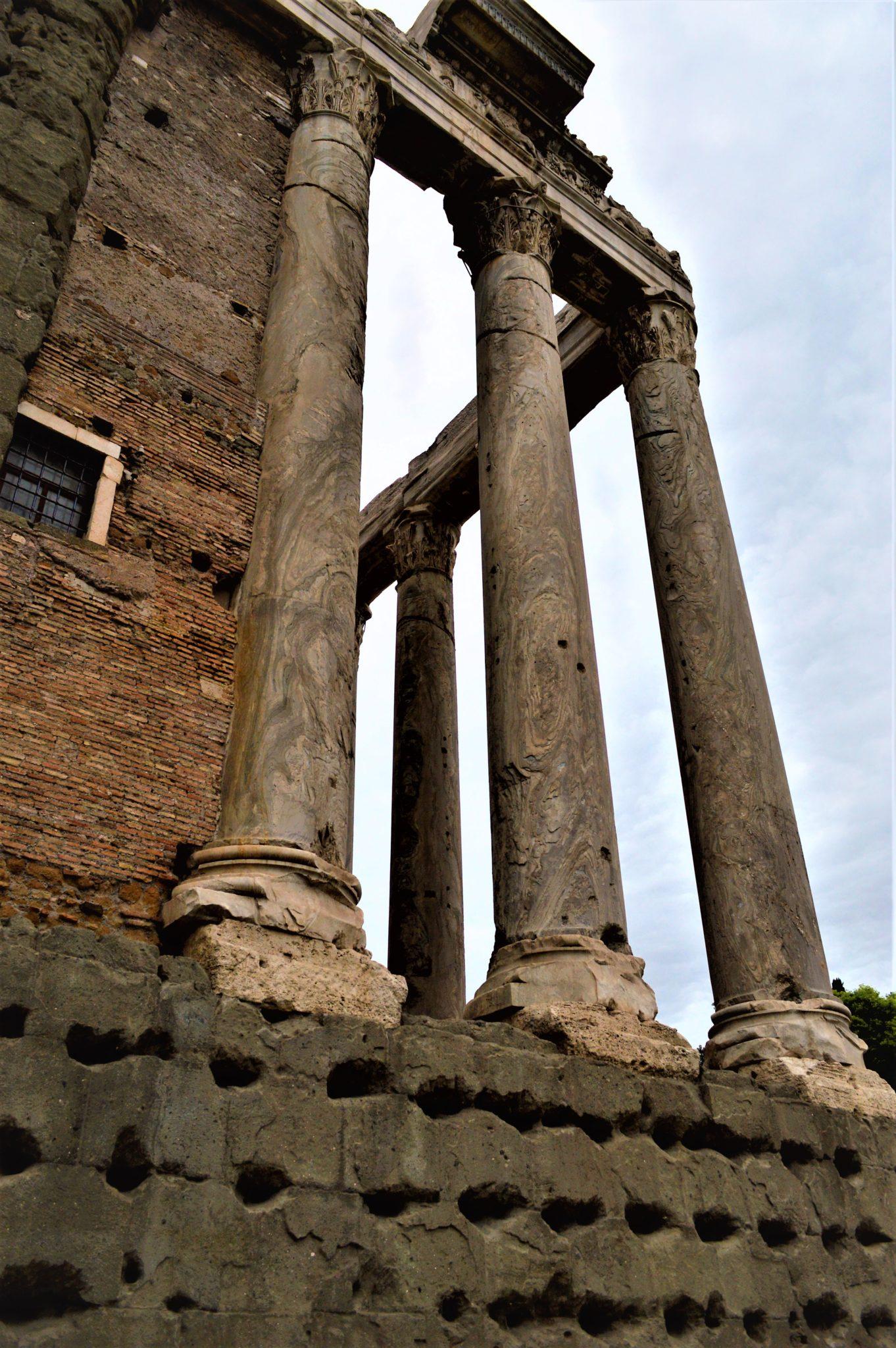 Columns in Roman Forum, Rome, Italy