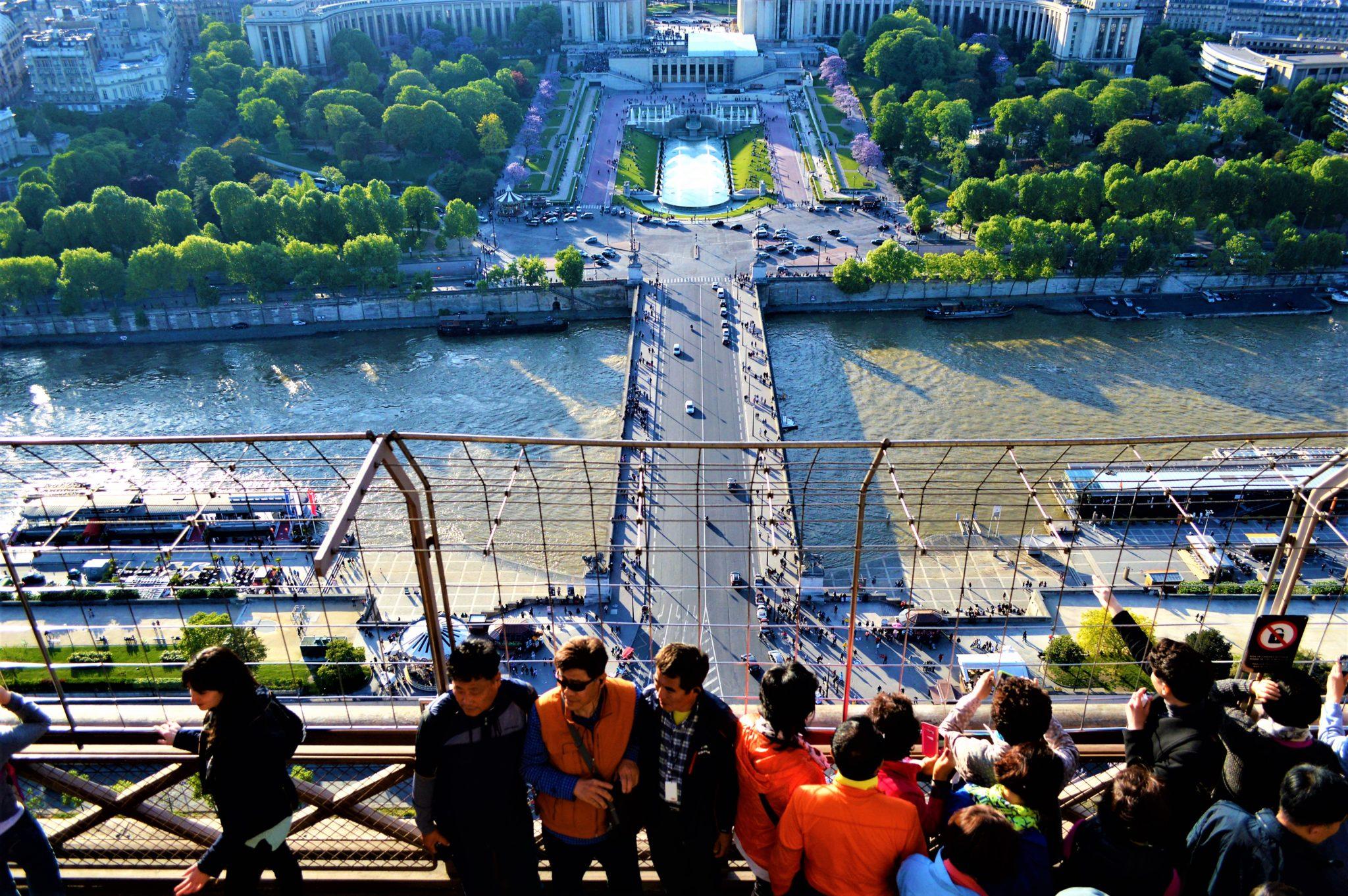 Half way up Eiffel Tower, Paris, France