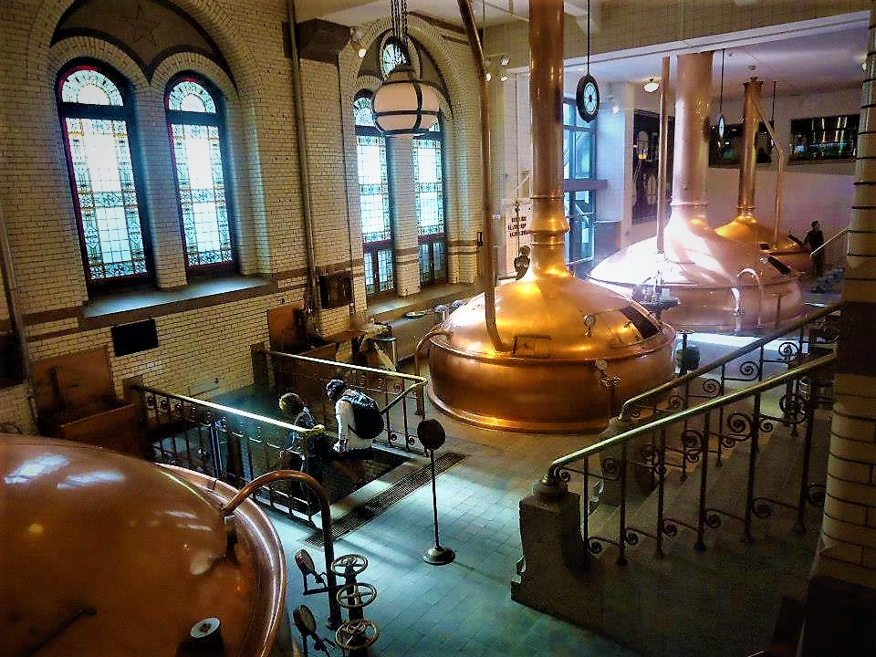 Heineken brewing tanks, Amsterdam, Holland