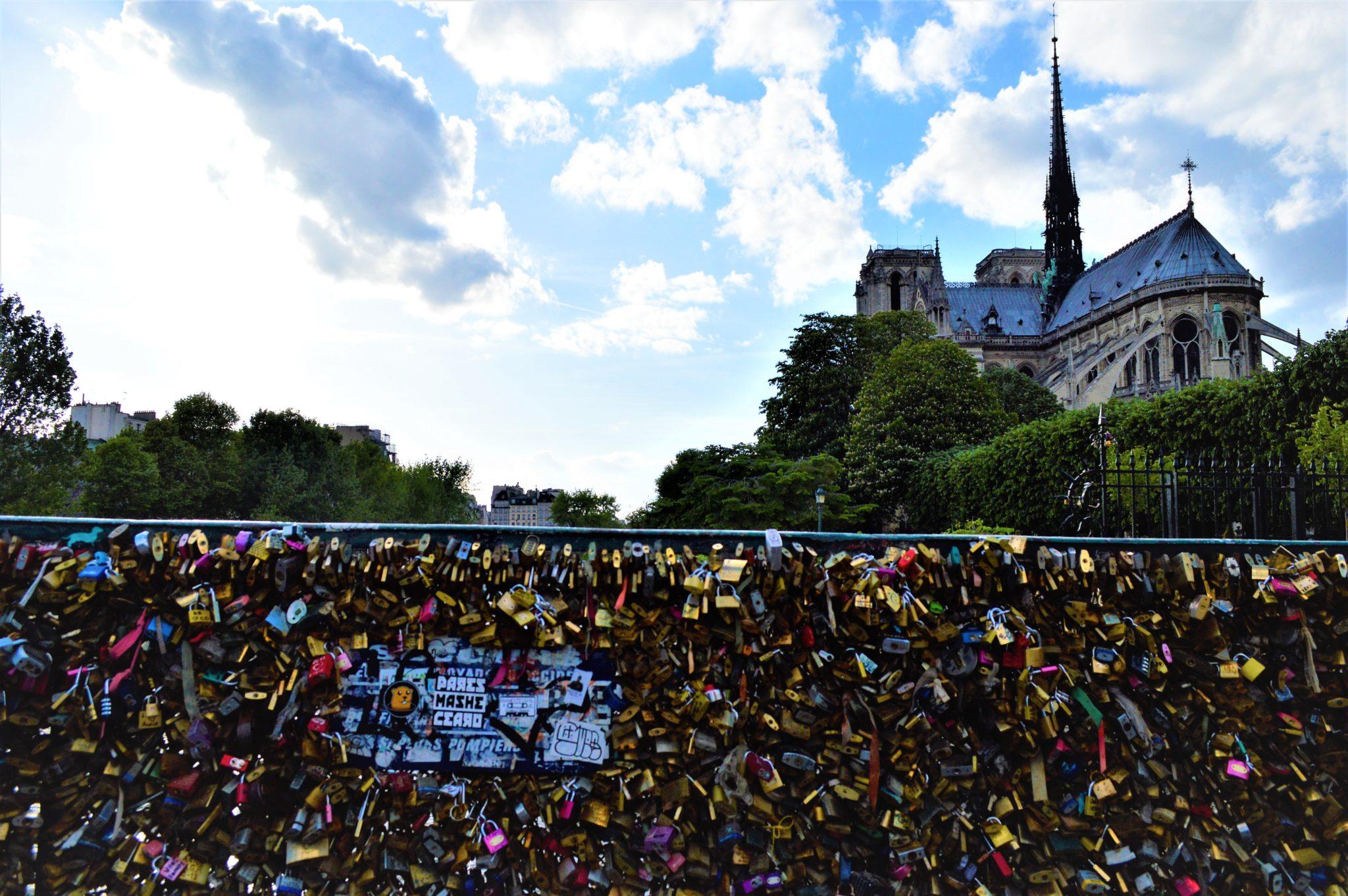 3 days in Paris Love Lock Bridge locks, Paris, France