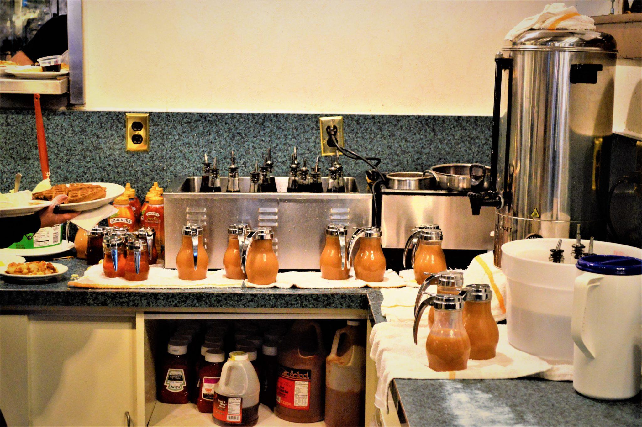 Secret recipe syrup, Pancake Pantry, Nashville, TN