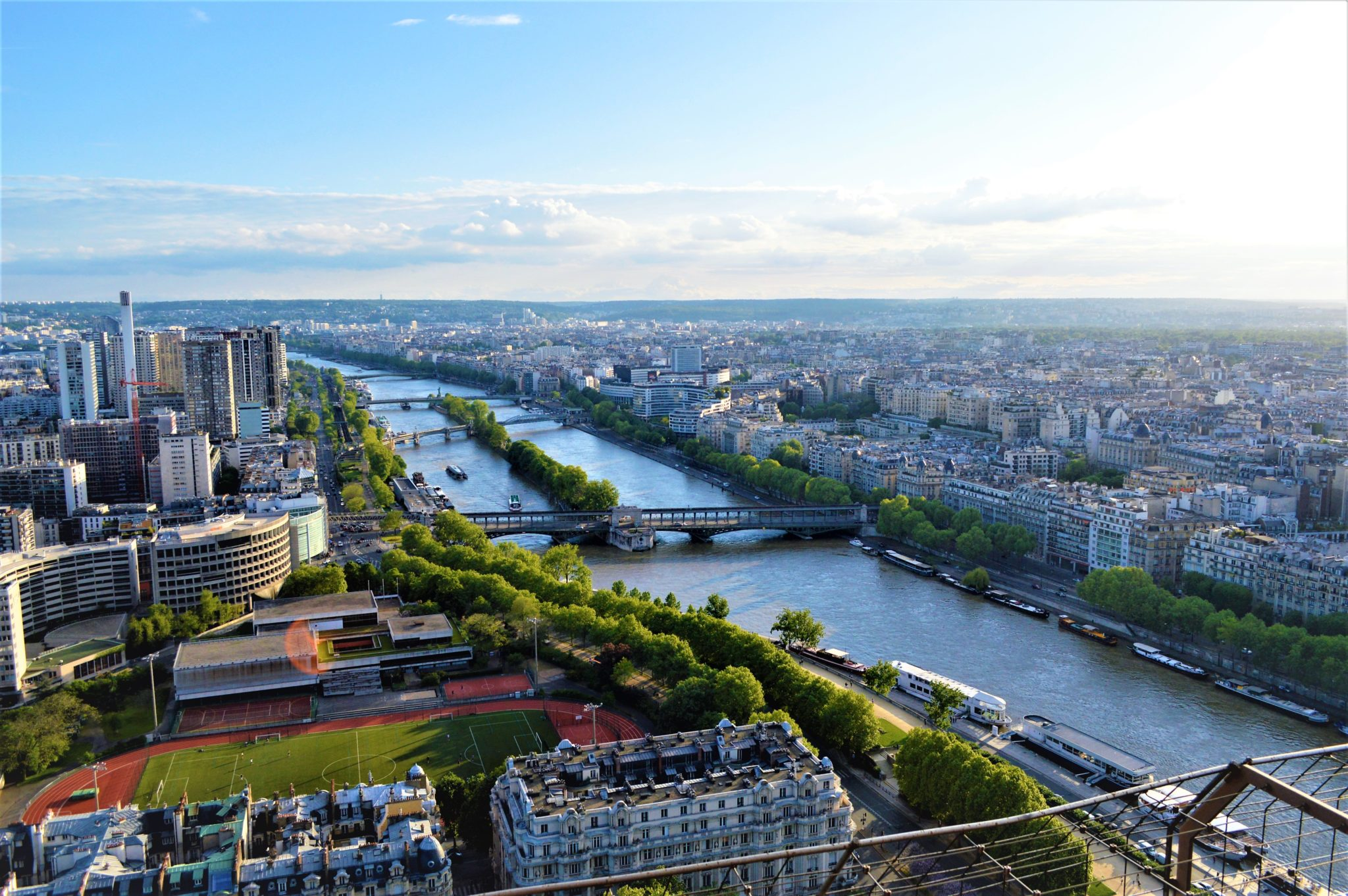 View of Sienne River from Eiffel Tower, Paris