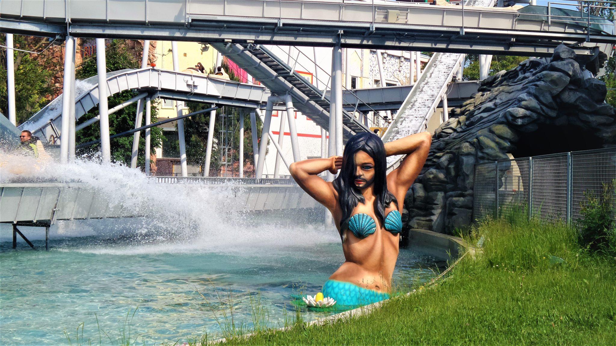 Conchita statue, Prater fairground, Vienna, Austria