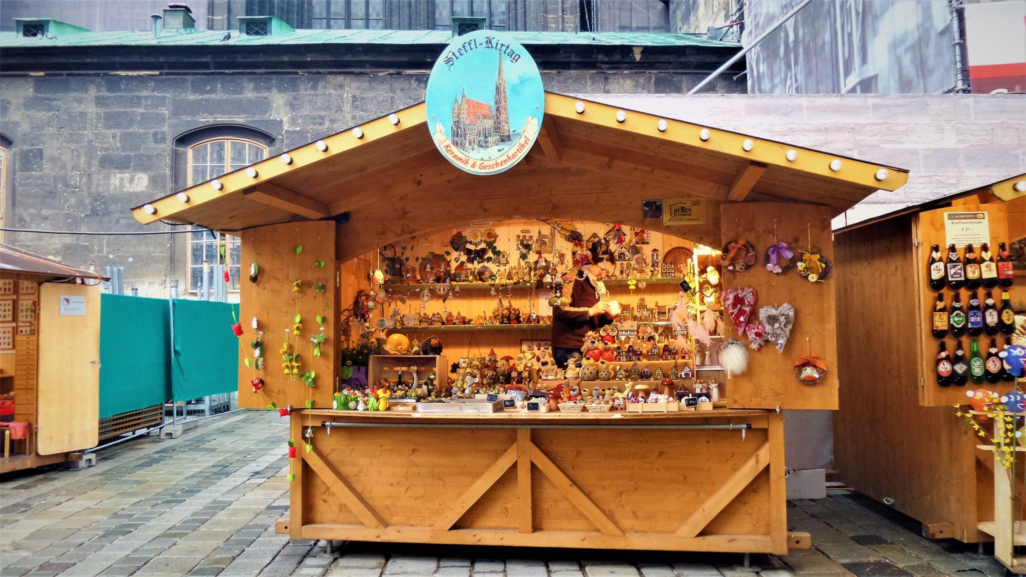 Market stall in Vienna, Austria
