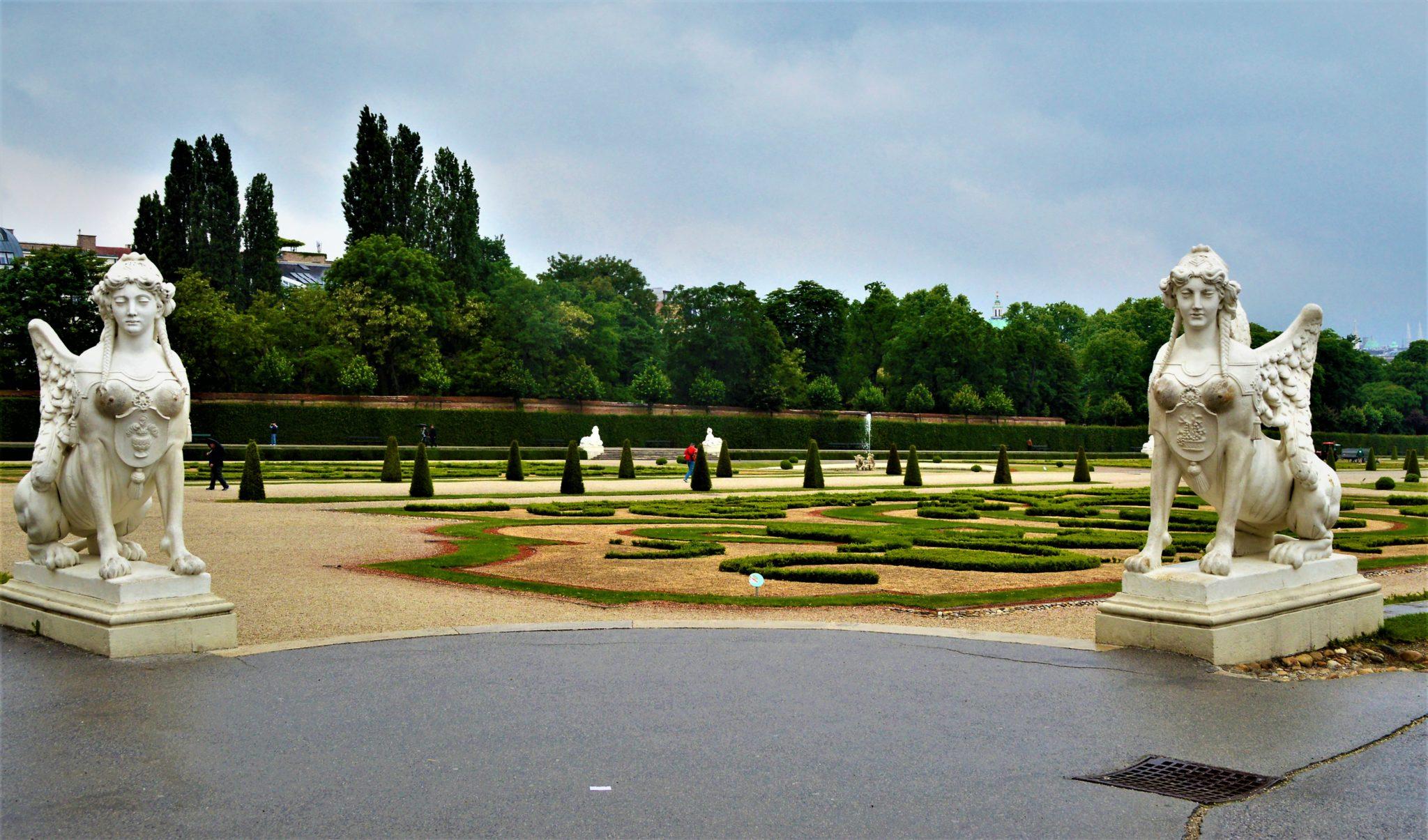 Schönbrunn Palace statues in gardens, 2 days in Vienna, Austria