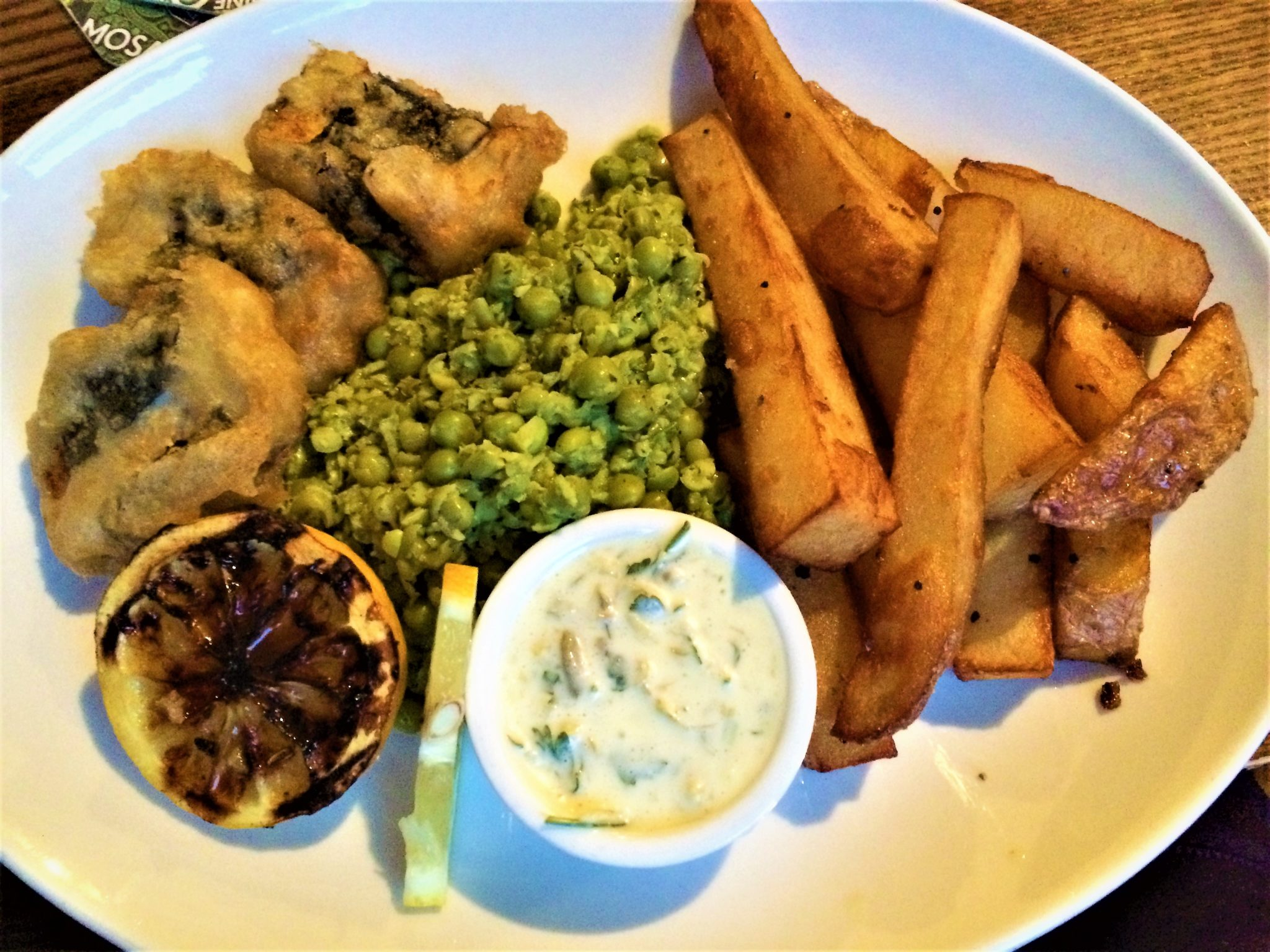 Ship Inn Ouseburn, Newcastle, Tofu fish and chips vegan