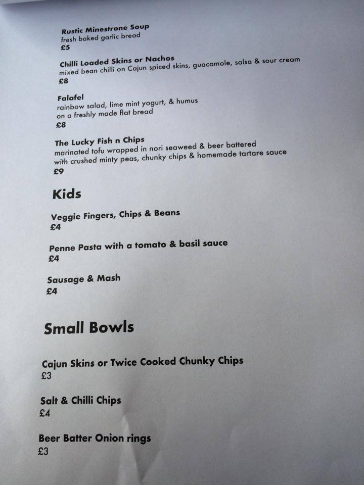 Ship Inn Ouseburn Newcastle menu vegan restaurant