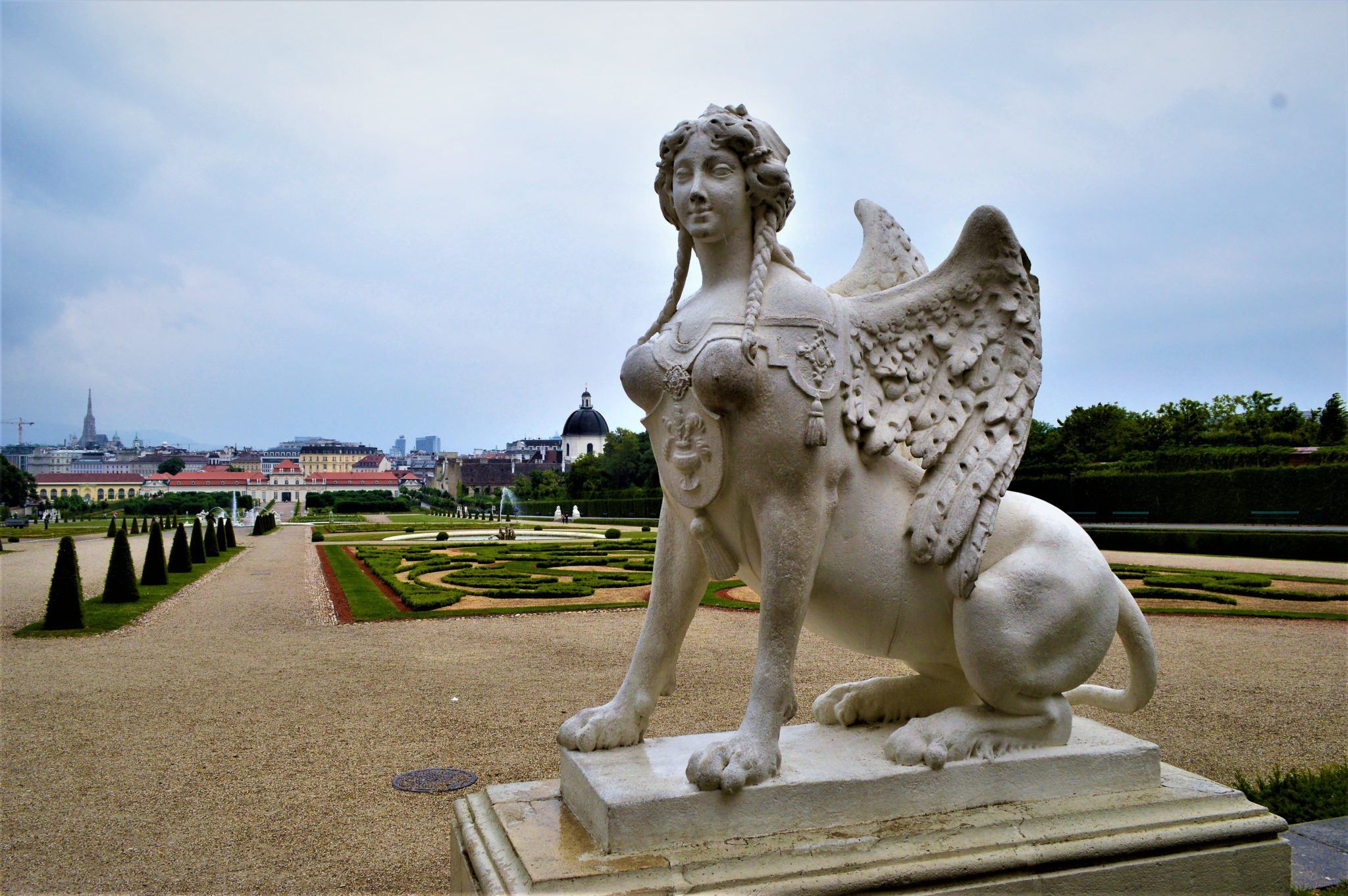 Woman lion statue, Schönbrunn Palace, 2 days in Vienna, Austria