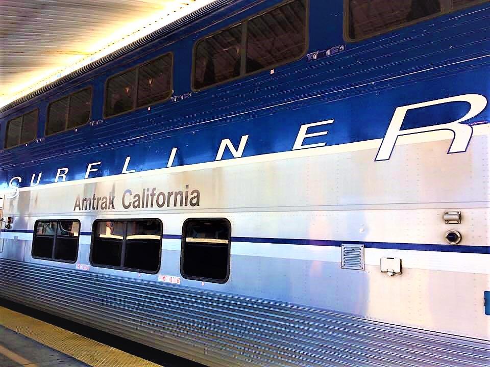 Amtrak California train, Surfliner to San Diego