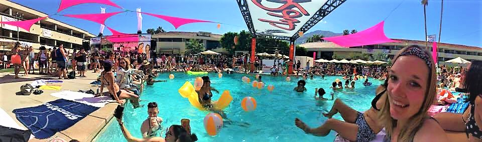 Dinah Shore weekend, pool party, Palm Springs, California