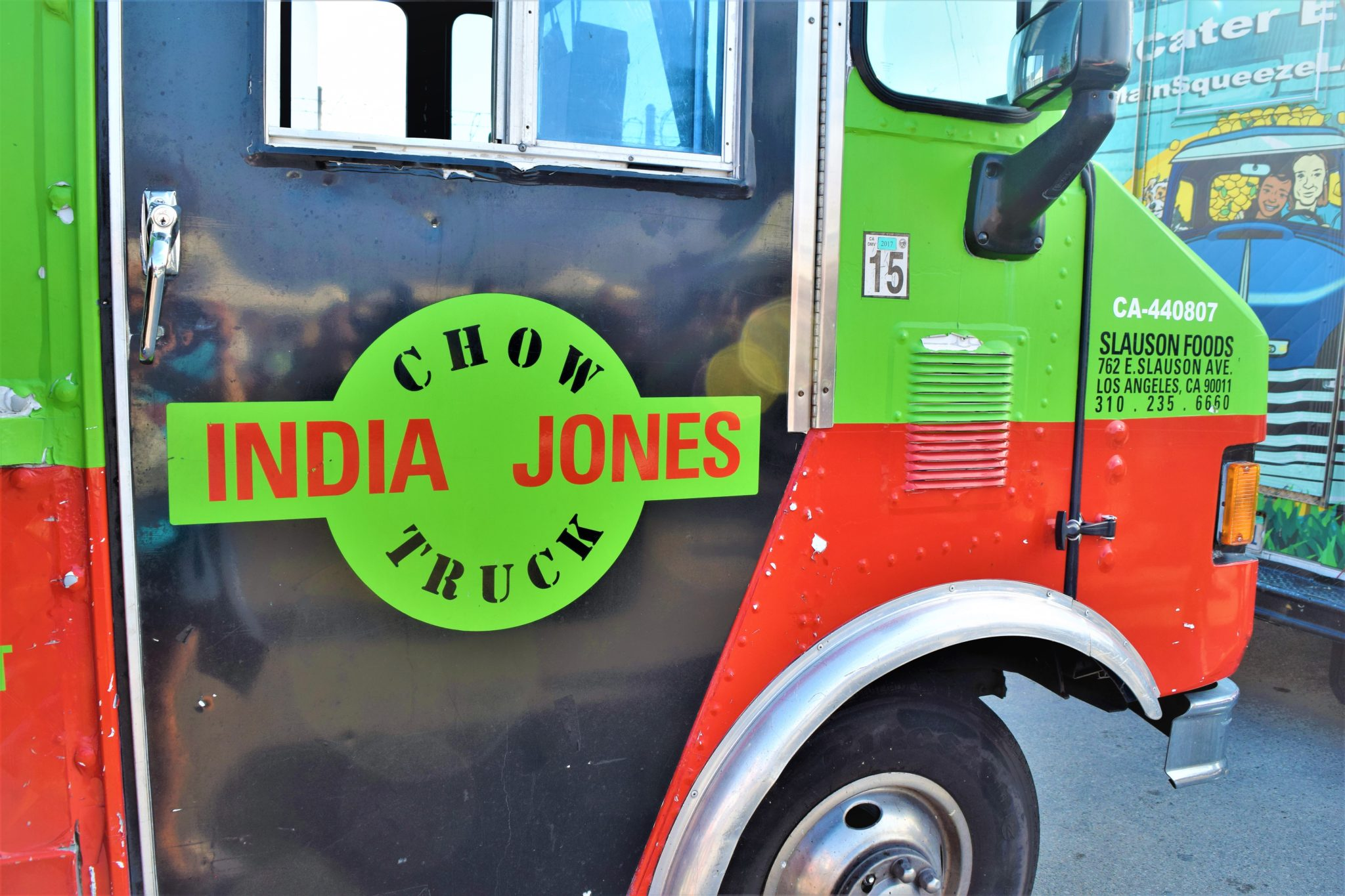 India Jones street truck vegan Indian food Los Angeles