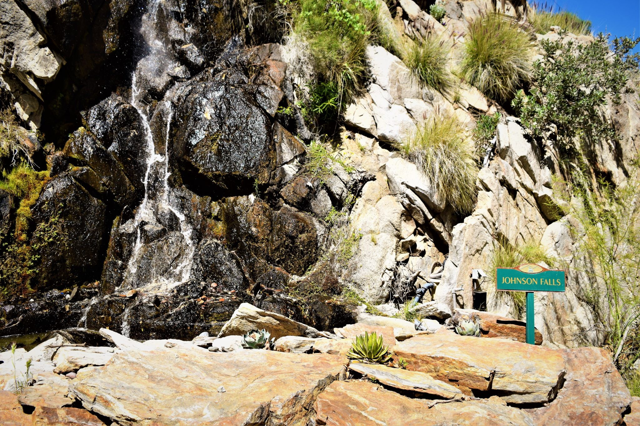 Johnson Falls, Palm Springs tramway waterfall, California