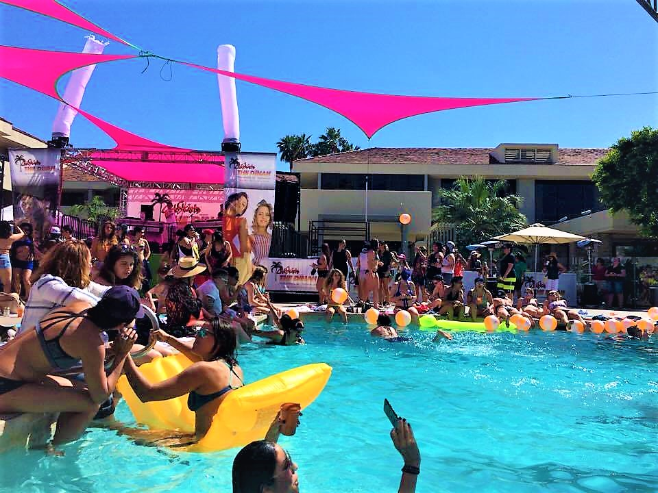 Pool party Dinah Shore Weekend, Palm Springs, California