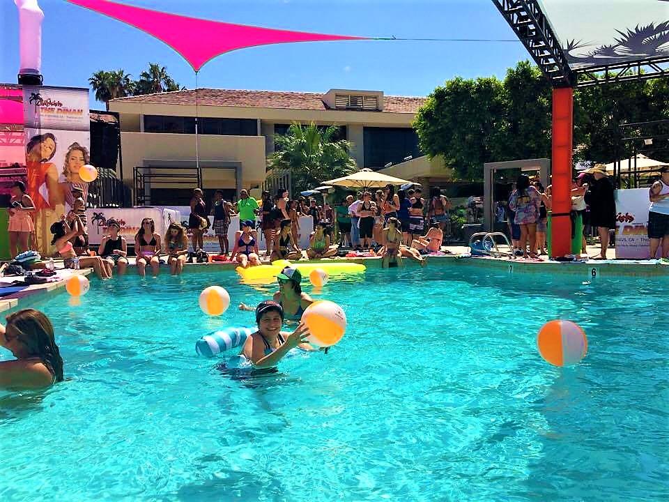 Pool party Palm Springs, Dinah SHore Weekend, Spring break, California