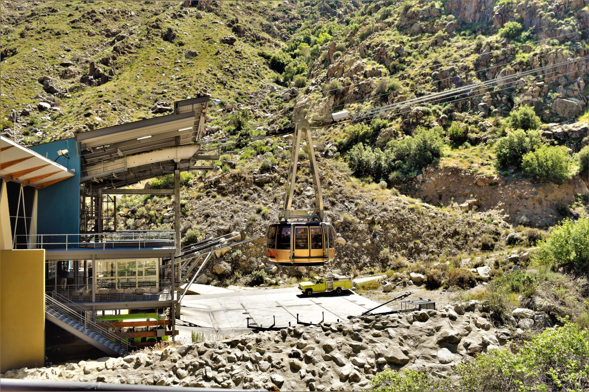 Rotating cable car, Palm Springs, California