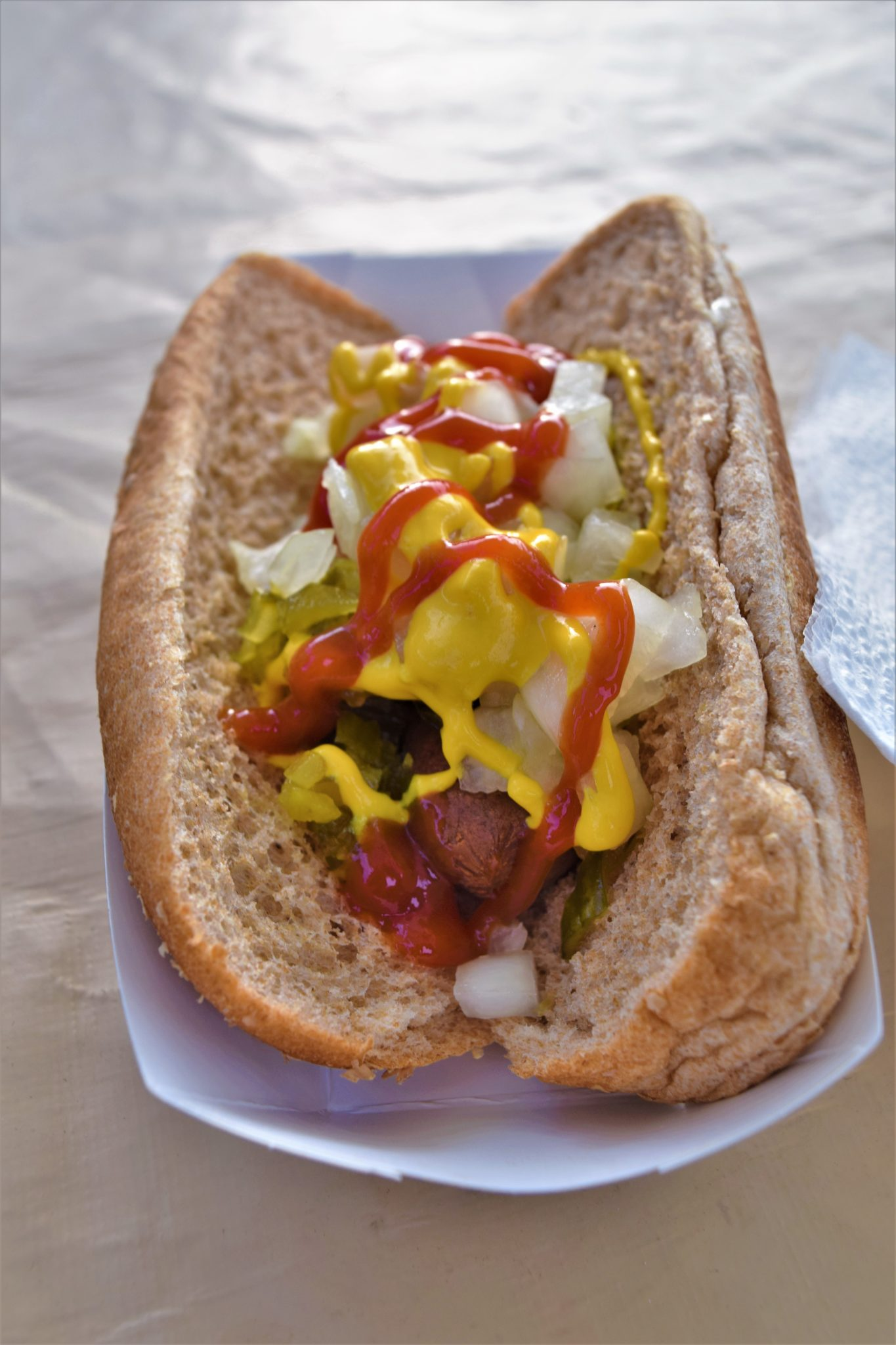 Vegan hot dog, Los Angeles, California
