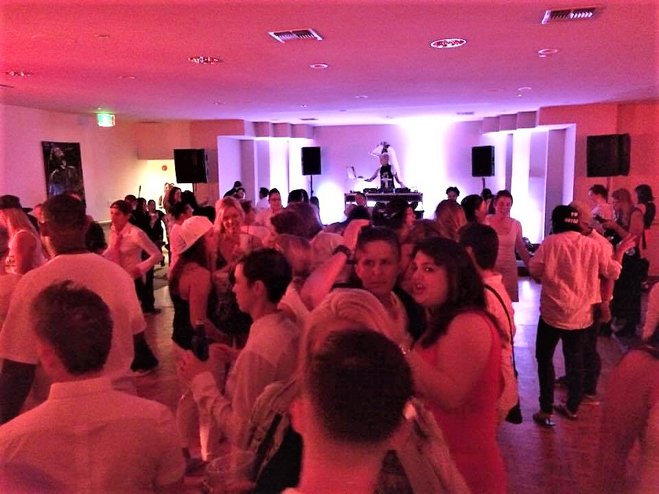 White party DJ at Dinah SHore Weekend, Palm Springs, California
