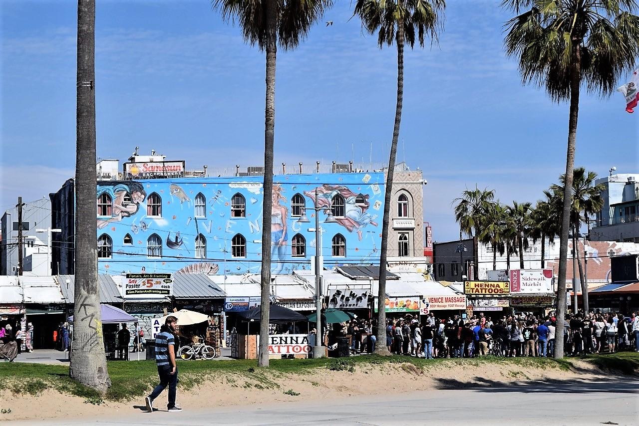 Venice Beach La California Round The