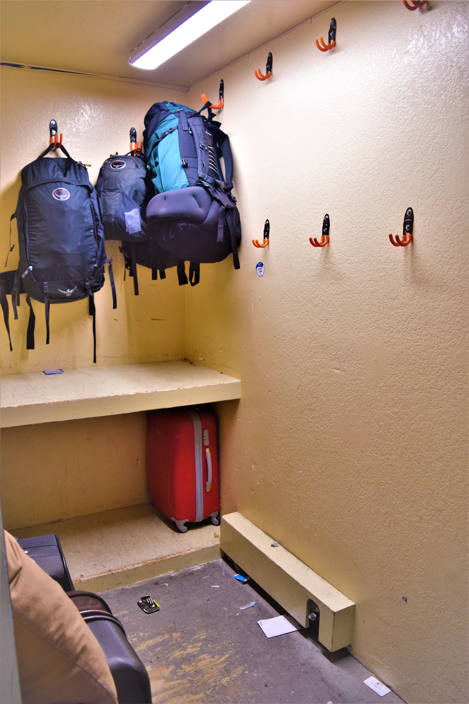 Luggage room, Samesun Venice Beach hostel, California