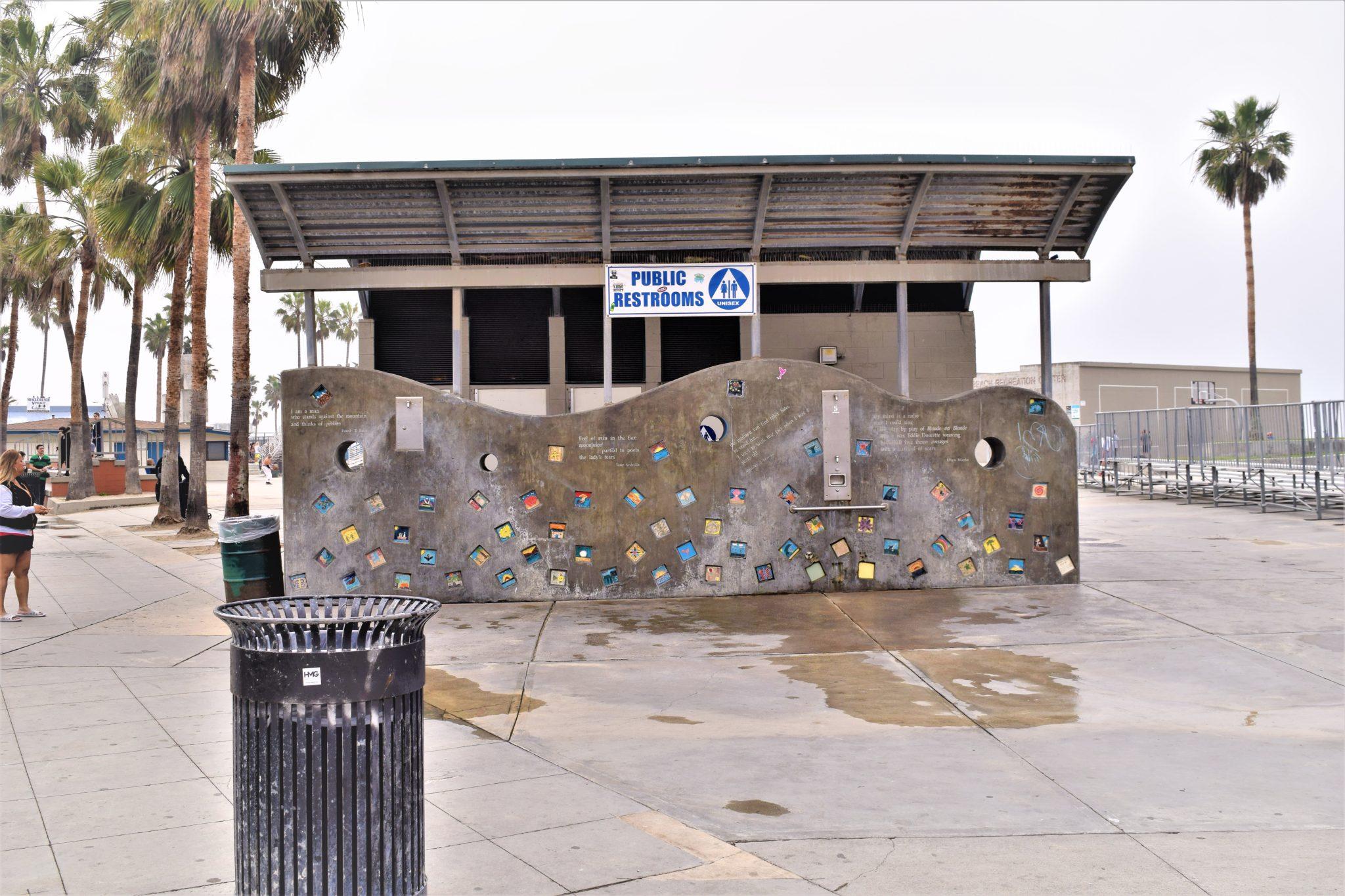 Public restrooms, Venice Beach, Los Angeles, California