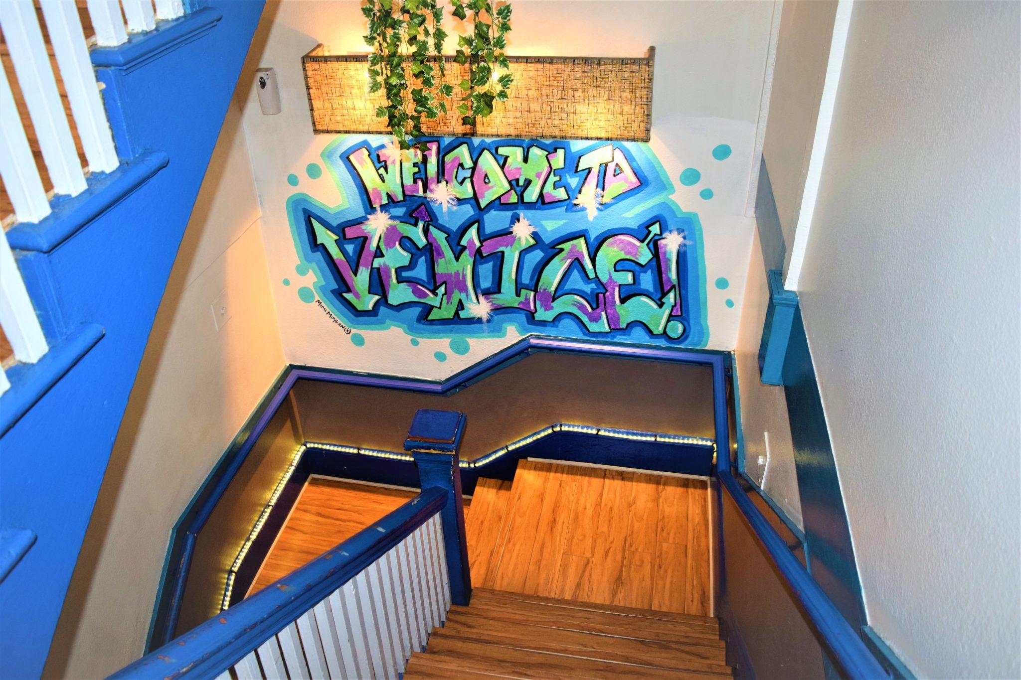 Stairs Venice Beach Samesun Hostel, Los Angeles, California