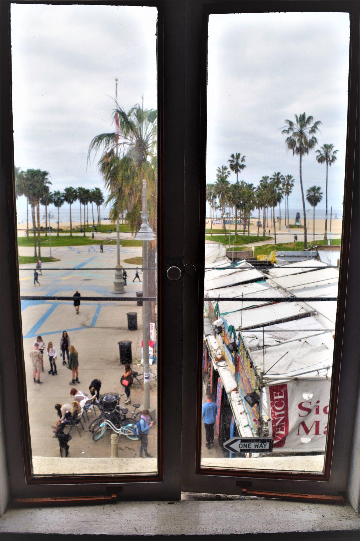 View from window, Samesun Venice Beach Hostel, California