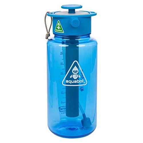 Aquabot multi use water bottle, spray, shower, hydrate, camping and festivals, amazon