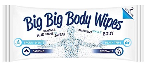 Big big body wipes for camping and festivals, amazon
