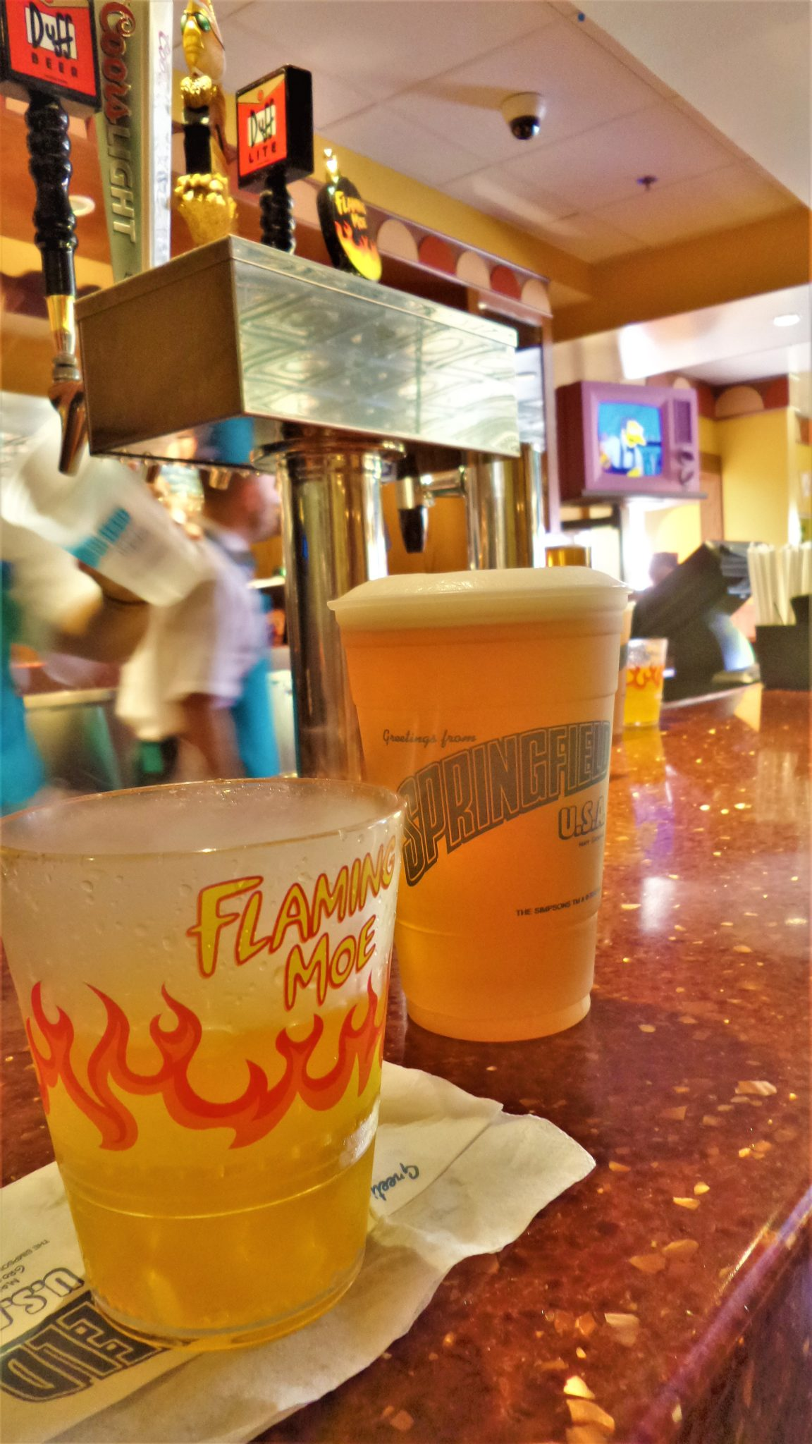 Flaming Moe at Moe's Tavern, Universal Studios, things to do in Los Angeles
