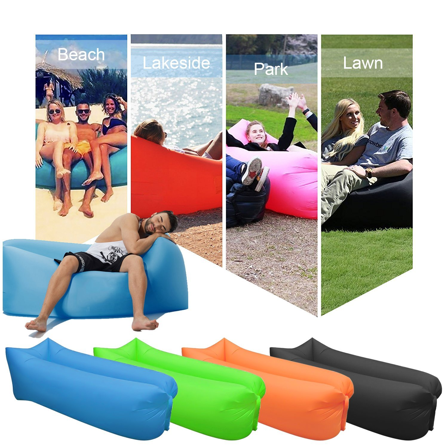 Inflatable lounger festival all terrain amazon
