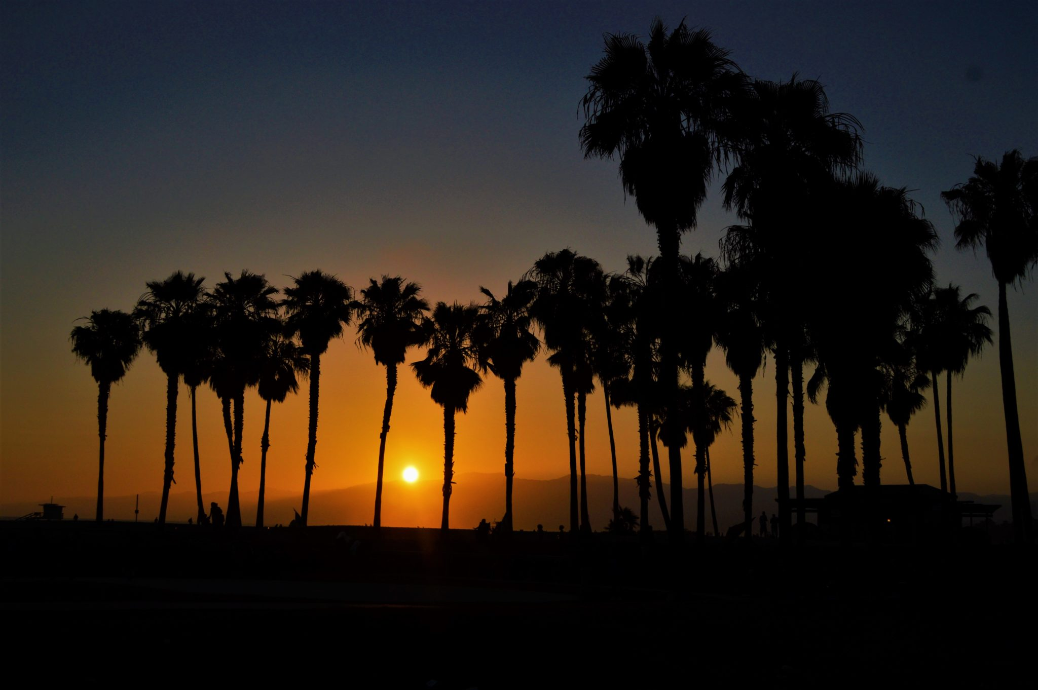 Sunset Santa monica mountains, venice beach, top things to do in los angeles
